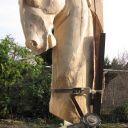 Eviloid series -Horse rotorvator -frézované do smreku kotúčom firmy Kaindl Woodcarer